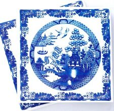 Blue Willow Pattern 30 Paper Napkins Serviettes Dinner Size 3 Ply