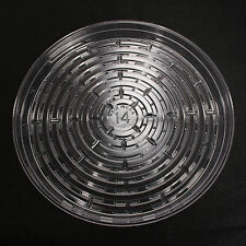 """5 Pieces 14"""" Plant Saucers Vinyl Plastic Tray Clear Other Quantities Listed Sep"""