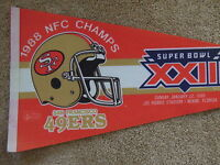 1988 San Francisco 49ers Football NFC Champs Original Full Size 30 Inch Pennant