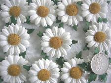 """100! Lovely Handmade Mulberry Paper Daisies - White Daisy Flower - 2.5cm/1"""""""