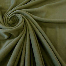 Stoff Meterware Polar Fleece antipilling weich knitterfrei oliv grün