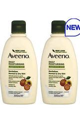 2 x 300ml AVEENO Daily Moisturising Yogurt Body Wash Apricot and Honey**New**