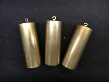 "Vienna Clock Brass Weight Set of 3  1 1/2"" x 4"""