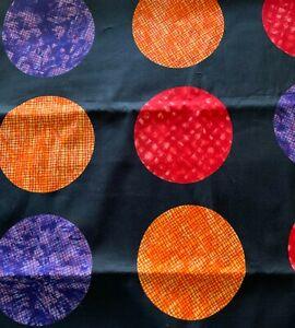 "Benartex Cherry Jubilee Fabric 1 Yd + 19"" x 42"" Weidman Black Red Purple Orange"