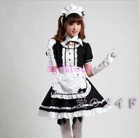 2017 Fashion Ladies Women's Maid Costume Lolita Dress Cartoon Cosplay Suits Size