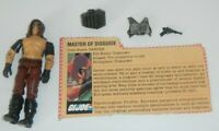 1984 GI Joe Cobra Dreadnok Zartan v1 Action Figure w/ File Card *Broken READ