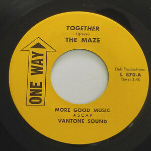 """THE MAZE Together / Lonely YesterdayKILLER PSYCH Funk SOUL 7"""" HEAR One Way"""