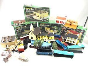 Bachmann HO scale Train Lot Buildings Scenes People Carts Parts Incomplete Sets