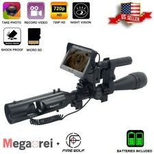 Night Vision Infrared Rifle Scope Hunting Sight 850nm IR HD Camera DVR NEW 2021