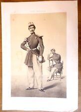 Lithographie, Garde impériale: régiment zouaves, Armand-Dumaresq, Lemercier, XIX
