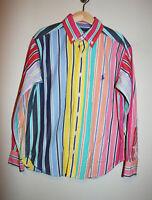 Boys RALPH LAUREN Striped Multicolor Dress Up Easter Button Down Shirt S (8/10)