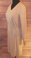 Beige Dress Women's Size 12 New Butte Knit Cream Belted Vintage Casual Career