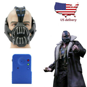 Batman Bane Cosplay Mask Movie Props Voice Charger The Dark Knight Rises Helmet