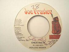 Merlene Webber - Cheating Is, JA Joe Frasier, EX  Wicked Reggae Steppers '78