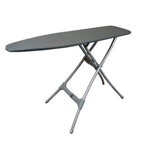 Homz Durabilt Premium Steel Top Folding Ironing Board with Expandable Legs, Gray
