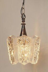Orig. 70er Years Seventies Design Ceiling Light Hanging Sörensen Silver Plated