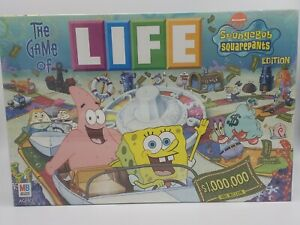 2005 The Game Of LIFE Spongebob Squarepants Nickelodeon Hasbro New Sealed!