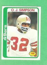 1978 Topps Football Cards   400 O.J.Simpson  PSA Gradable