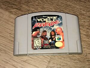 WCW / nWo Revenge Nintendo 64 N64 Cleaned & Tested Authentic