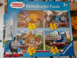 Ravensburger 4 In A Box Thomas And Friends Jigsaw Puzzles 12,16,20,24 Complete