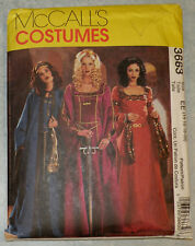 McCall's 3663 Medieval Renaissance Dress Costume Pattern Plus Size 14 -20  New