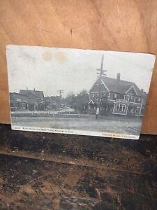 Kilby House & Main Street,Kensington Connecticut Real Photo Vintage Postcard.