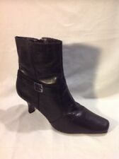 George. Black Ankle Leather Boots Size 41