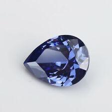 6X8mm AAAAA Blue Sapphire Gems 1.49ct Pear Faceted Cut VVS Loose Gemstone
