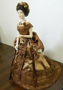 "Victorian Style Show Stoppers/Florence Maranuk 2003 9.5"" Resin Doll in Bronze"