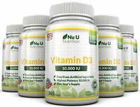 Vitamin D3 10000iu 5 x 365 Soft Gels  High Strength 100% Back Guarantee Nu U