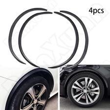 US 4X Carbon Fiber Car Wheel Eyebrow Arch Trims Lips Protector Flares Strips NEW