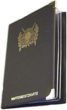 Wbk Etui WBK Mappe Waffenbesitzkarte Schwarzpulverschein Waffensammler Revolver