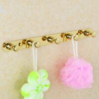 Brass Wall Mount Robe Hooks Hanger Towel Clothes Bathroom Accessories Holder Y53