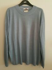 BNWT LADIES M/&S CLASSIC COLLECTION RANGE LONG SLEEVED BLUE JUMPER//TOP SIZE 22