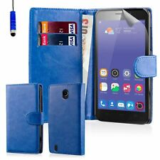 32nd Book Wallet PU Leather Flip Case Cover for ZTE PHONES Blue Blade L3