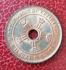 Etat Indépendant du Congo - Léopold II - Belgique - Magnifique  2 Centimes 1888