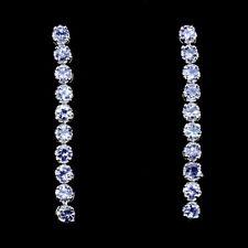 Ohrringe Tansanit 925 Silber 585 weißvergoldet