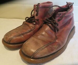 Mens Leather Red/Brown Shoes Good Condition