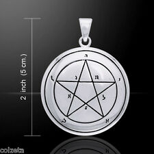 FIRST Pentacle of MERCURY pendant .925 SILVER ~ SEALS of SOLOMON by Peter Stone
