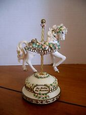 My Mother My Memories ~ San Francisco Music Box Co. Musical Carousel Horse
