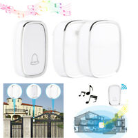 Wireless Doorbell 4 Volumes 1000FT Chime 2 Plug in Receivers + 1 Transmitter New
