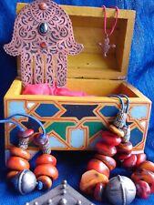 Moroccan hand painted large jewellery treasure  box + stars