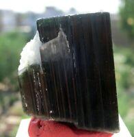 Natural Green Cap Tourmaline Crystal W/Albite 125 CT Specimen Skardu Pakistan
