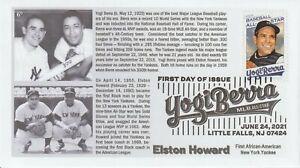 6° Cachets Yogi Berra and Elston Howard New York Yankees Catchers #2