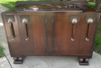 Antique Art Deco Sideboard Buffet 1920's - 1930's Oak