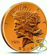 2014 Copper ZOMBIE Bullion ZOMBUCKS - Feast ROUND 1 AVDP OZ - FREE SHIPPING