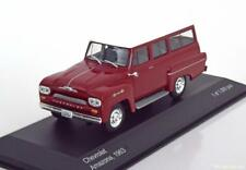 CHEVROLET AMAZONA 1963 BREAK DARK RED WHITEBOX WB109 1/43 WHITE ROOF ROUGE ROT