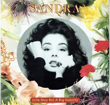 "SANDRA - 12"" - (Life May Be) A Big Insanity (4 Mixes) VIRGIN . UK Picture Virgin"