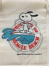 NEW Snoopy Peanuts Beach Tote Zipper Cooler Bag Property of Beagle Beach