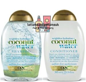 OGX WEIGHTLESS HYDRATION + COCONUT WATER Shampoo AND Conditioner 385ML